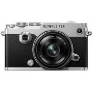 Aparat Foto Mirrorless Olympus PEN-F, Body, 20.3 MP + Obiectiv EW-M1718 (Argintiu)