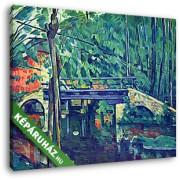 Paul Cézanne: Híd az erdőben (30x25 cm, Vászonkép )