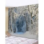 Rosegal Tapisserie Murale Pendante Art Décoration Neige et Forêt Imprimés Largeur 118 x Longueur 79 pouces
