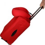 Linenwalas Yes Anti-scratch Luggage Cover with U Shape Ajustable Beads Neck Pillow Luggage Cover(Fits 24-32 Inch, Red)