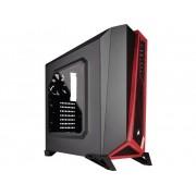 Midi-tower Gaming-behuizing Corsair Carbide SPEC-ALPHA Zwart/rood 3 voorgeïnstalleerde ventilators, Zijvenster, Stoffilter, Harde schijf installatie zonder