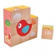 Hape Puzzle de Cubes Puppy et ses amis Hape - Jouets Hape