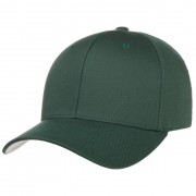 Cappellishop Spandex Flexfit Cap in verde scuro, Gr. XS/S (53-55 cm)