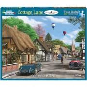 White Mountain Puzzles Cottage Lane - 1000 Piece Jigsaw Puzzle