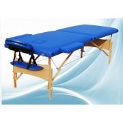 Masa masaj 2 sectiuni - Pliabila si portabila - structura Lemn - Albastru