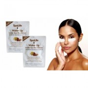 Spa Life Anti Aging, Under eye therapy mask 24 or 60 Treatments All Skin Types Espresso & Vitamin E 2 Packs Brown