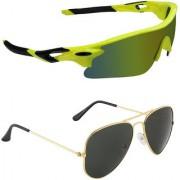 Zyaden Combo of 2 Sunglasses Sport and Aviator Sunglasses- COMBO 2678