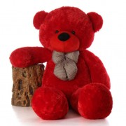 5 Feet Red Teddy Bear with a Bow
