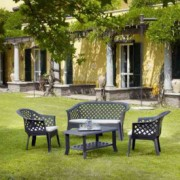 Baštenski set - sto + 2 stolice + dvosed - ZELENI VERANDA 031481