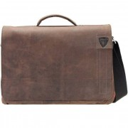 Strellson Richmond Messenger Leder 40 cm Laptopfach dark brown