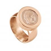 Quiges RVS Schroefsysteem Ring Rosékleurig Glans 20mm met Verwisselbare Rosé Boeddha 12mm Mini Munt