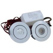 LED Set van 2 Inbouwspots - 3W - Chroom