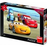 Puzzle Dino Toys Cars 3 la mare 24 piese Multicolor