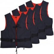 vidaXL Auxiliares de flutuação 4 pcs 50 N 50-70 kg azul-marinho