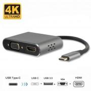 4smarts OfficeCord Dual Screen USB-C Adapter - Samsung Dex, Huawei MateDock