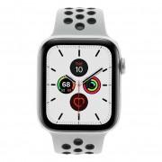 Apple Watch Series 5 Nike+ Aluminiumgehäuse silber 44mm mit Sportarmband platinum/schwarz (GPS + Cellular) silber new