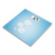 Cantar de sticla Beurer, 150 kg, LCD, design floral