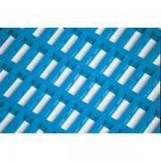 Certeo Anti-Ermüdungsmatte aus Vinyl, beidseitig nutzbar - doppelt gewebt, pro lfd. m - Maschenweite 10 x 22 mm, blau