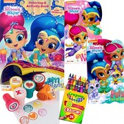 Shimmer and Shine Coloring Book and Board Books Set - Includes 1 Coloring Book with over 30 Stickers