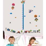 Parachute Height Chart Trucks Kids Play wall stickers 5034