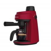 Espressor manual Vortex VO4009RD, Rezervor apă 0.24 L, 800 W, 3.5 bari, Filtru inox, Funcție spumare, Roșu/negru