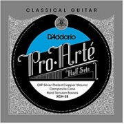 D'Addario XCH-3B Pro-Arte EXP Coated Silver Plated Copper on Composite Core Classical Guitar Half Set Hard Tension