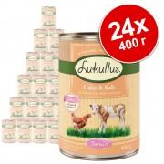Икономична опаковка Lukullus Junior 24 x 400 г - смесена опаковка: три вида