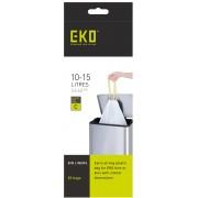 Комплект от 20 бр. торби за смет EKO с връзки - размер С (10-15 литра)