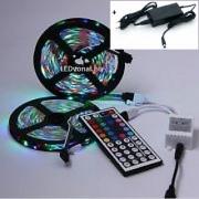 Szett , 10m RGB szalag + Dimmer , 44 gombos távirányítóval + 80 Wattos dugvillás tápegység