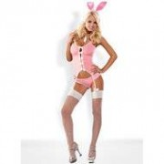 Obsessive Bunny Suit 4-delig Kostuum