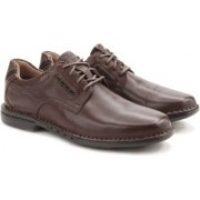 Clarks Uncorner Plain Brown Leather Sneakers For Men(Brown)