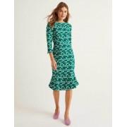 Boden Waldgrün/Bunt, Kleines Bandmuster Violette Kleid Damen Boden, 40 L, Green