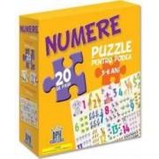 Numere puzzle pentru podea 3-6 ani - 20 piese