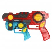 Merkloos 1x Waterpistolen/waterpistool rood/blauw 2-delig van 26 cm kinderspeelgoed