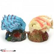 Kagyló és gyöngy akvárium dekoráció