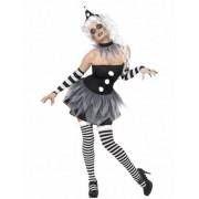 Vegaoo Sexy Pierrot-Kostüm Halloween für Damen