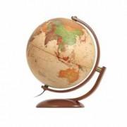 Glob Geografic Politic Optimus Iluminat Diamtetru 30cm Rotire 2 Planuri Lemn Cires