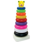 TOYZTREND Plastic Baby Kids Teddy Stacking Ring Jumbo Stack up Educational Toy Multicolour Rings Tower Construction Toys