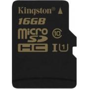 Card de memorie Kingston SDCG/16GBSP, microSDHC, 16 GB, Clasa 10, Viteza citire 90 MB/s, Viteza scriere 45 MB/s