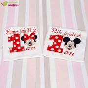 Set 2 Tricouri Personalizate - Minnie Red Bow