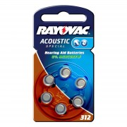 Rayovac 312 Acoustic 1.4 V, 180mAh button cell