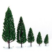 10pcs 10 size model for the trees building railroad train model pyramid-shaped tree 1.9 inches - 6.3 inches scale 1/50