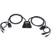 Mini KVM Switch 2 Porte USB con Audio