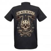 Chemise pour hommes BLACK HEART - CHOPPER SKULL - NOIR - 008-0029-BLK