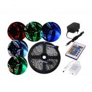 RGB-STAR 5050 Komplet vodotesný LED farebný pásik 5m s diaľkovým ovládaním