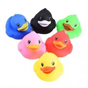 Per Baby Bathing Toys Cute and Safe Duck Bath Toys 6 Colourful Ducks Bath Toys for Baby