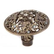 Carpe Diem Hardware 146 - 3 caq Juliane Grace perilla con cristales de Swarovski, 1 - 7/20.3 cm, latón antiguo