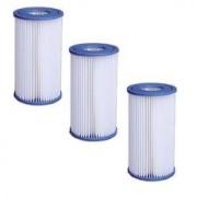 JILONG Lot de 3 filtres pour pompe 3,8 et 6m3 jilong