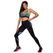 Bonna funkcionális leggings, virágos M