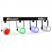 Beamz 4-Some Clear Juego de luces LED RGBW Con micrófono DMX (Sky-153.741)